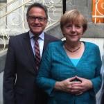 Reiner Meier mit Bundeskanzlerin Angela Merkel Bild: Privat