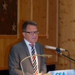 CSA Spitzenkandidat und CSA Bezirksvorsitzender Reiner Meier bei seinen Ausführungen