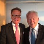 MdB Meier mit Dr. Grube, Bahnchef