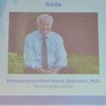 MP Horst Seehofer auf der Großleinwand
